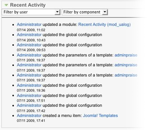JoomlaPraise Activity Log