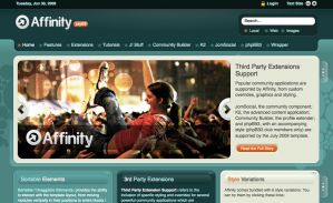 Affinity - RocketTheme template for July 2009