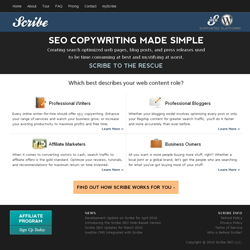 The Scribe SEO website
