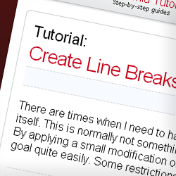 Tutorial: Create Line Breaks in Joomla Article Titles