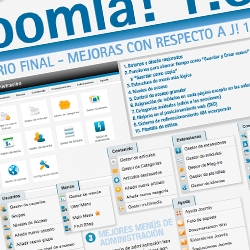 Top 10 Joomla 1.6 end-user improvements over Joomla 1.5 - Spanish version [infographic]