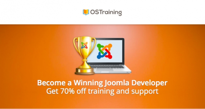 OSTraining offering 70% off on Joomla Developer Training
