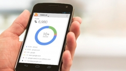 Google Analytics on a mobile device.