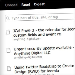 How to create a favorites RSS feed and display it in a Joomla site