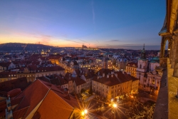 Magic Sunset over Prague, by Lucy Liu